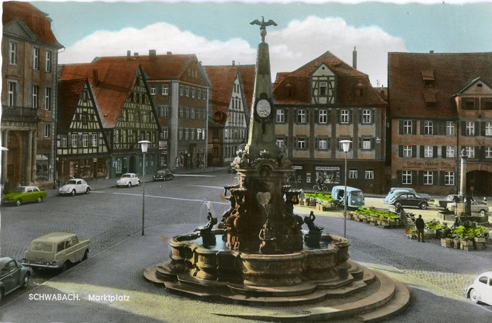 Königsplatz, Postkarte um 1965