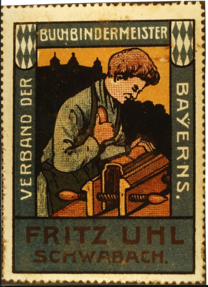 Werbemarke Uhl um 1905 - 1 klein
